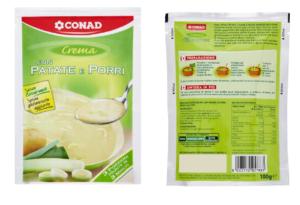 Richiamo per rischio presenza di allergeni  Conad – Crema con patate e porri