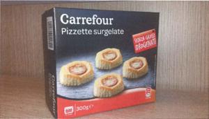 Richiamo per rischio presenza di allergeni Carrefour – Pizzette crude di pasta sfoglia surgelate