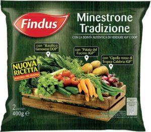 Richiamo per rischio microbiologico Findus – Minestrone tradizione 400 gr